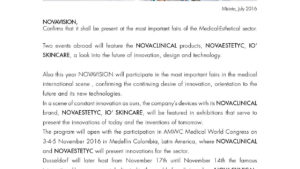 Novaclinical will participate in AMCW and Medica 2016