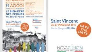 NOVACLINICAL A SAINT VINCENT (Aosta), per il CONGRESSO INTERREGIONALE AOGOI