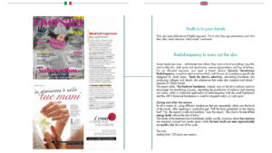 Youth is in your hands, Radiofrequency to even out the skin